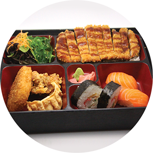 B1.	Tonkasu Pork/Chicken Bento box <br>炸豬扒/雞扒套餐 <br>$:16.90 <br><i>*</i> Buy any Bento Box or Rice get one miso soup free