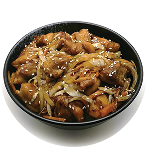 D2.	Teriyaki Chicken Don <br>照燒雞肉飯 <br>$:12.80 <br><i>*</i> Buy any Bento Box or Rice get one miso soup free