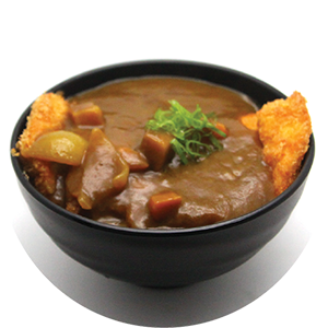 D4.	Fried Pork/Chicken Curry Don <br>咖哩炸豬扒/雞扒飯 <br>$:12.80 <br><i>*</i> Buy any Bento Box or Rice get one miso soup free
