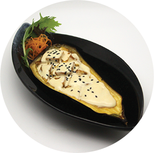 A7.	Grilled Eggplant in miso sauce  <br>味噌茄子 <br>$:9.80