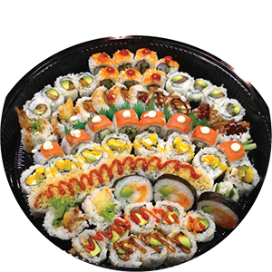 5. Sushi Party Platter  <br>Small.............		$39.00 <br>Medium.........	$49.00 <br>Large.............		$59.00 <br>